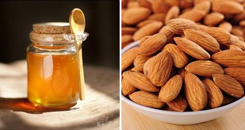Hỗn hợp mật ong và hạnh nhân không những trị mụn mà còn làm dịu và giúp da mềm mại hơn