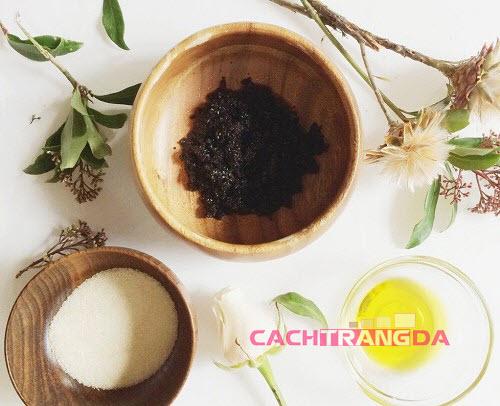 Cách làm trắng da toàn thân bằng cà phê và dầu ôliu
