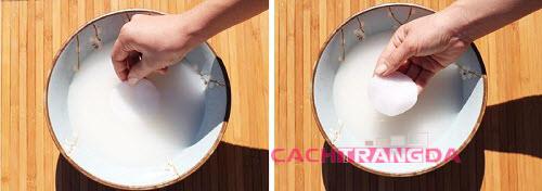 Cách làm trắng da mặt từ nước vo gạo