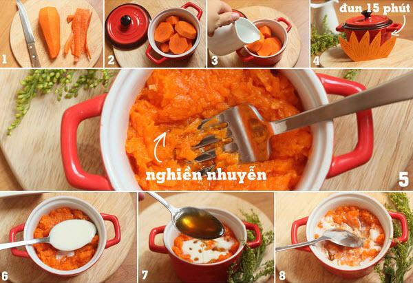 Cách làm trắng da mặt bằng Cà rốt và sữa chua