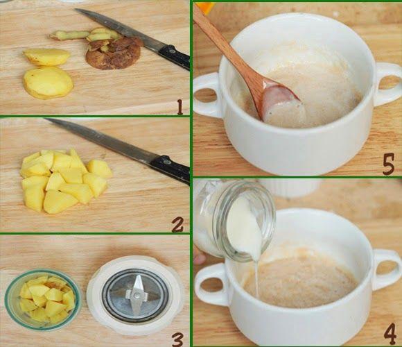 Cách làm trắng da mặt bằng Khoai tây & sữa tươi