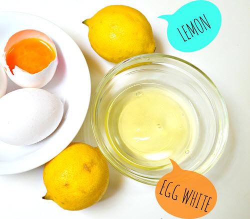 Cách làm trắng da mặt bằng Lòng trắng trứng và nước cốt chanh
