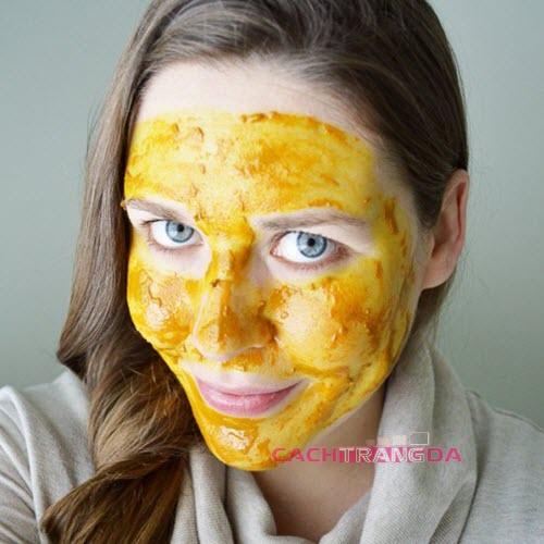 Cách làm trắng da mặt nhanh nhất từ bột nghệ