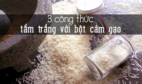 Cách làm trắng da toàn thân bằng cám gạo