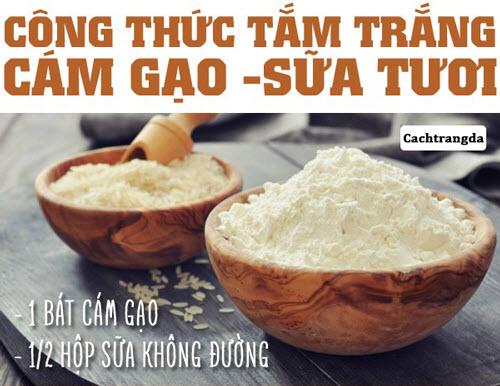 Cách làm trắng da toàn thân đơn giản từ cám gạo