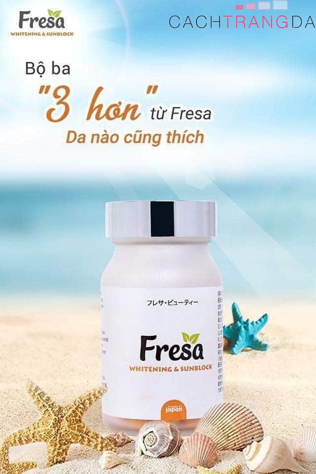 viên uống trắng da chống nắng Fresa-cachtrangda.com