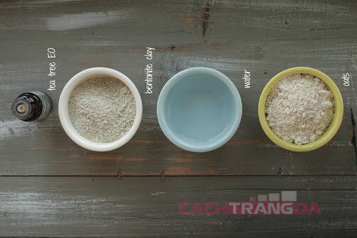 Cách trị mụn trứng cá từ Đất sét và Bột yến mạch