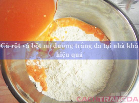 Cà rốt và bột mì dưỡng trắng da tại nhà khá hiệu quả