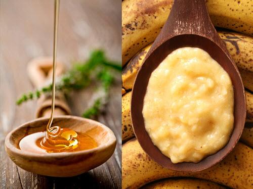 Cách dưỡng da trắng nhanh và an toàn với Chuối + mật ong