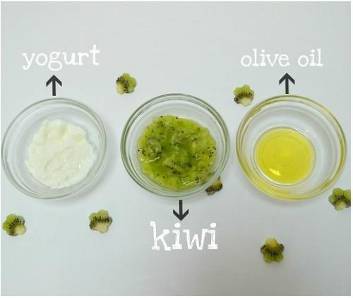 Chỉ cần kiwi, sữa chua và dầu oliu da sẽ trắng sáng mịn màng