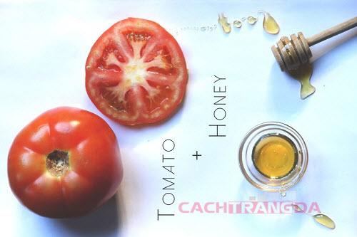 Hướng dẫn cách làm trắng da mặt từ Cà chua và mật ong