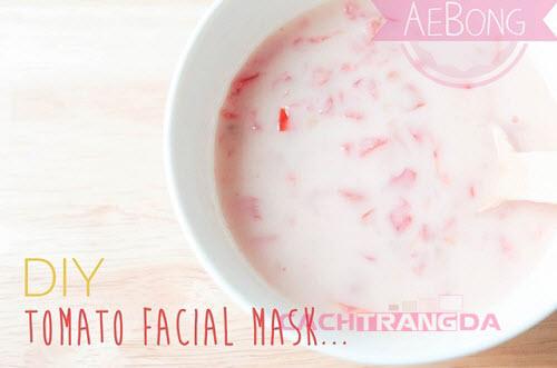 Hướng dẫn cách làm trắng da mặt từ Cà chua và sữa chua