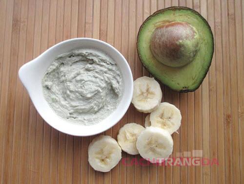 Mặt nạ dưỡng ẩm, trắng da tự nhiên tốt nhất từ bơ và chuối