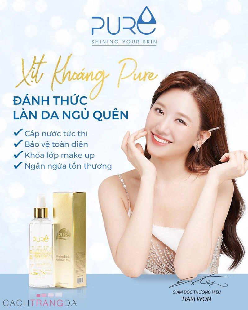 Công dụng Xịt khoáng Pure Hàn Quốc