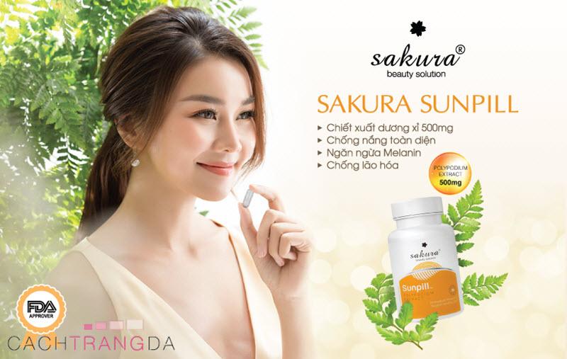 Viên uống chống nắng toàn thân Sakura Sunpill